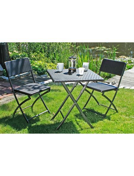 Gartenmöbelset Ventana 3 Tlg 2 Stühle Tisch Klappbar