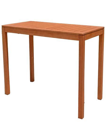 Gartentisch 120x60.Gartentisch Palmdale Eukalyptusholz 120x60 Cm Braun